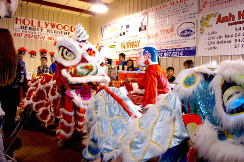 Lion dancers scare away evil spirits and welcome in the new year