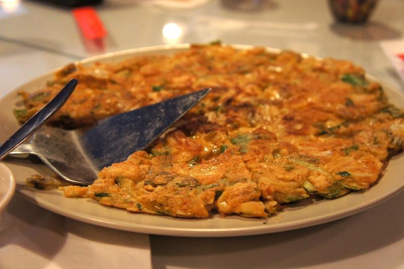 Haemul pajun - seafood pancake!