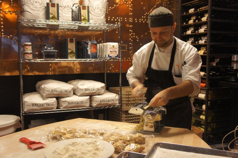 Chefs make their own pastas in house