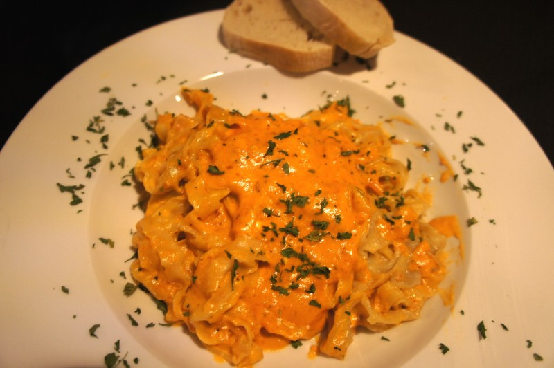Pasta - Tagliatelle with Vodka sauce - the vodka sauce is addicting