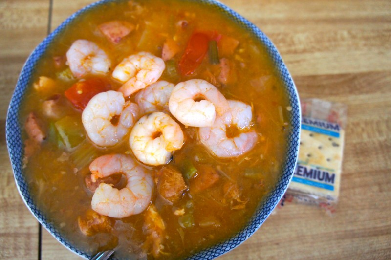 Gumbo with shrimp