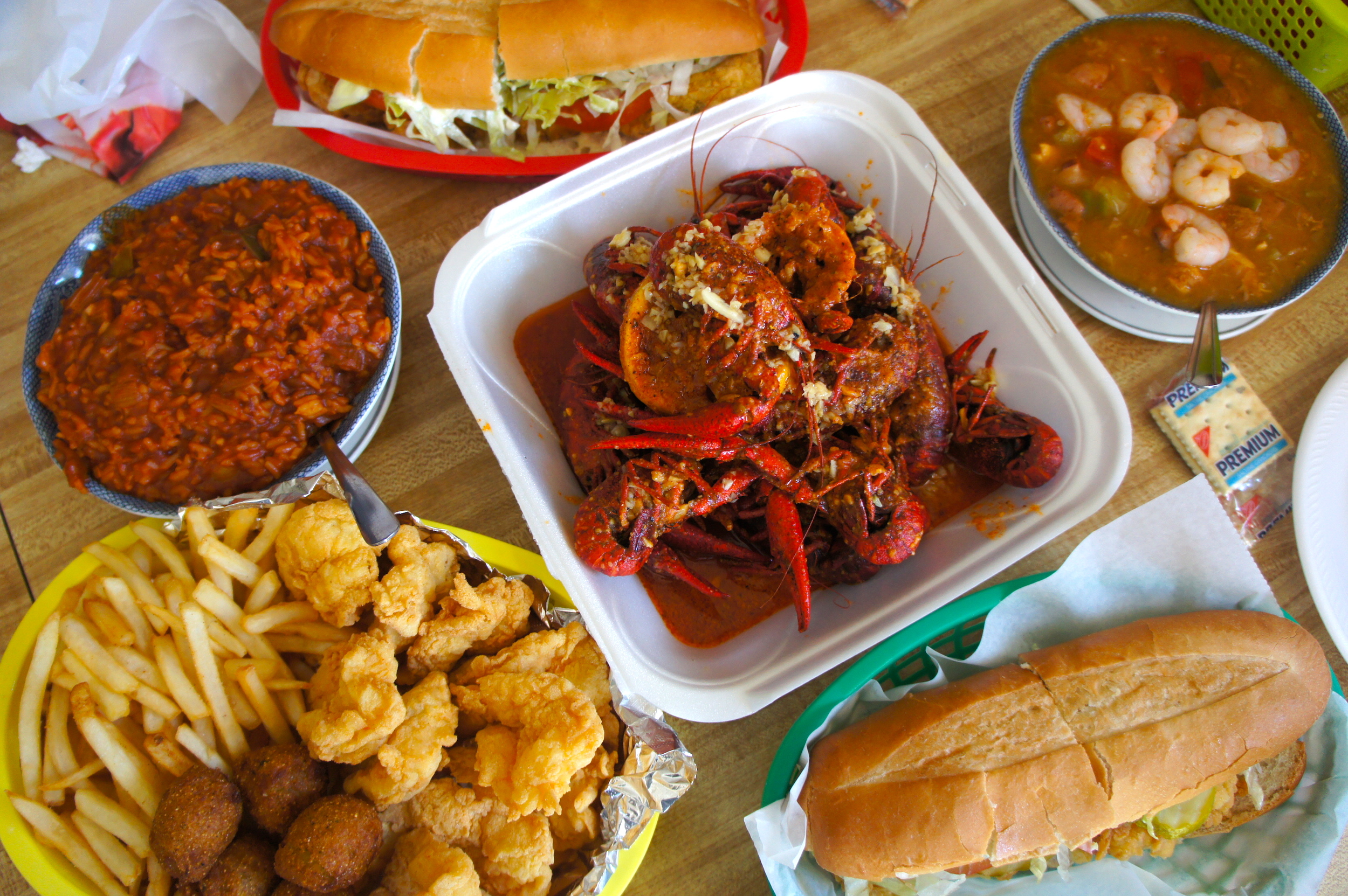 One Of My Favorite Cajun Restaurants In Town King Crawfish On Mills Avenue Has Some The Best Fresh And Fried Shrimp Oyster Poboy