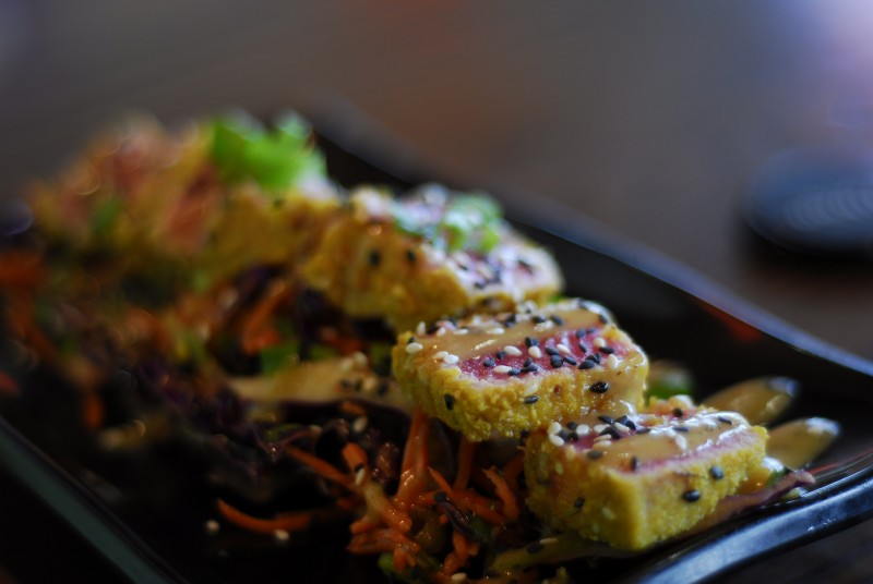 Almond Crusted Seared Tuna