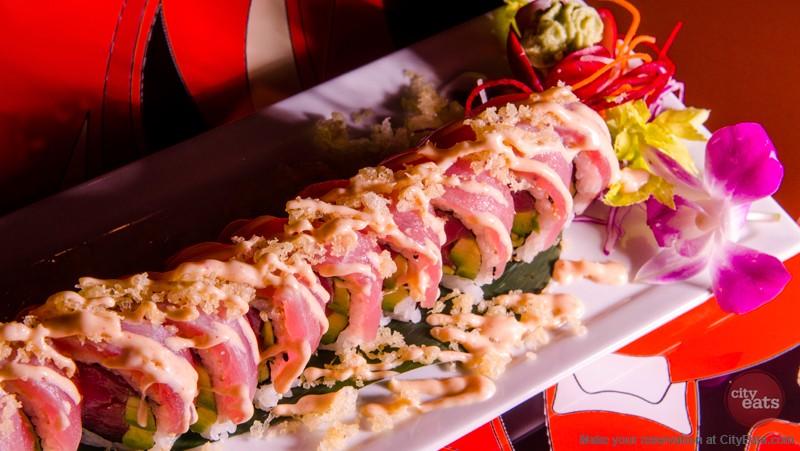 Kabuki Restaurant Signature Dish (Seared Ahi Tuna Roll)