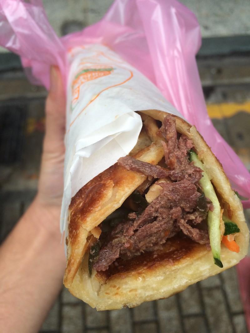 Beef Scallion Breakfast Crepes - Niu Rou Jian Bing