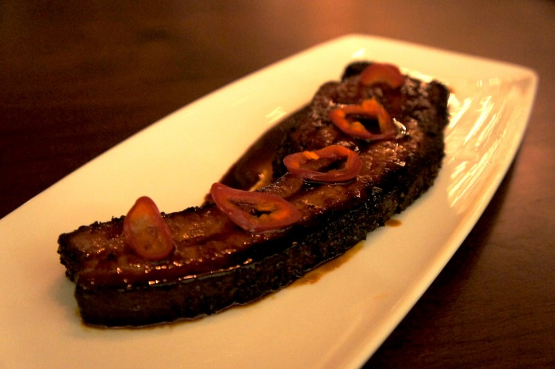 Thick Cut Bacon Au Poivre Bourbon Molasses Glaze - $14.5