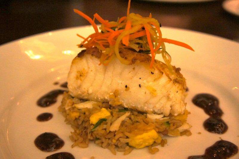 Seared Chilean Sea Bass Crab Fried Rice & Black Bean Garlic Sauce - $44
