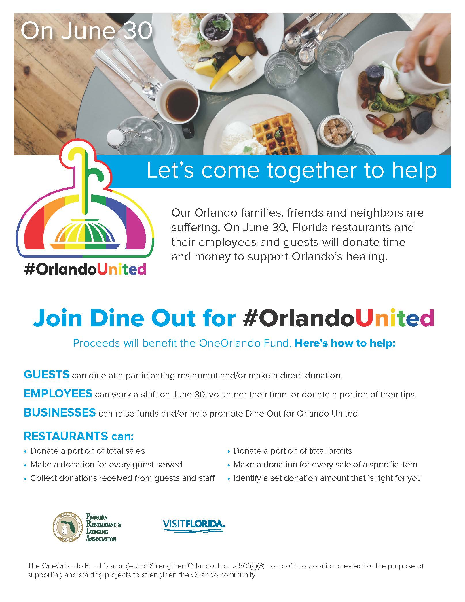 dine out for orlando united to support victims families and