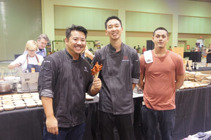 Chef Ray Hideaki Leung and Chef David Song and team of Dragonfly Orlando