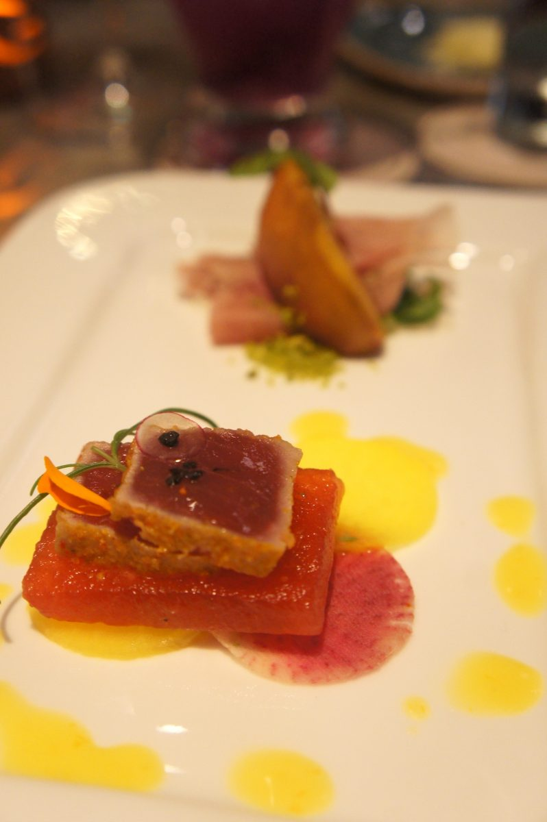 Compressed Tuna and Watermelon - Flying Fish at Disney's Boardwalk