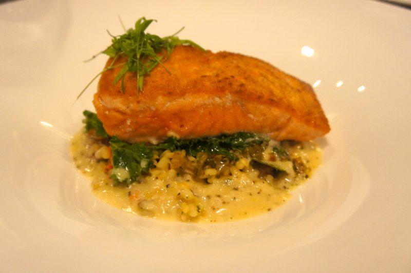 Wild Alaskan King Salmon - Pancetta-Ivory Lentils, Wilted Varietal Kale, Meyer Lemon, Garden Vinaigrette