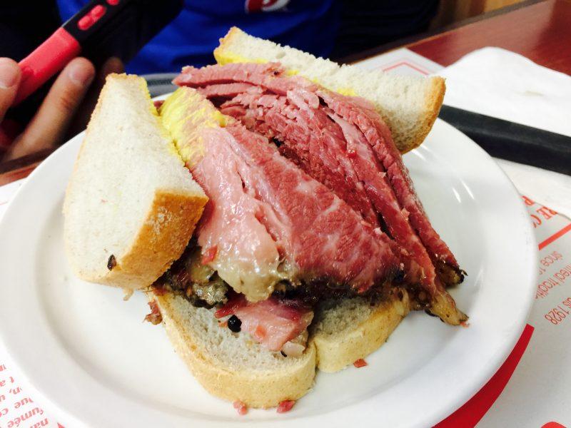 Schwartz's smoked meat sandwich