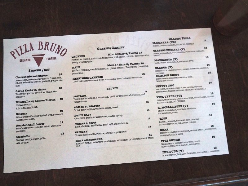 brunch at pizza bruno tasty chomps orlando food blog