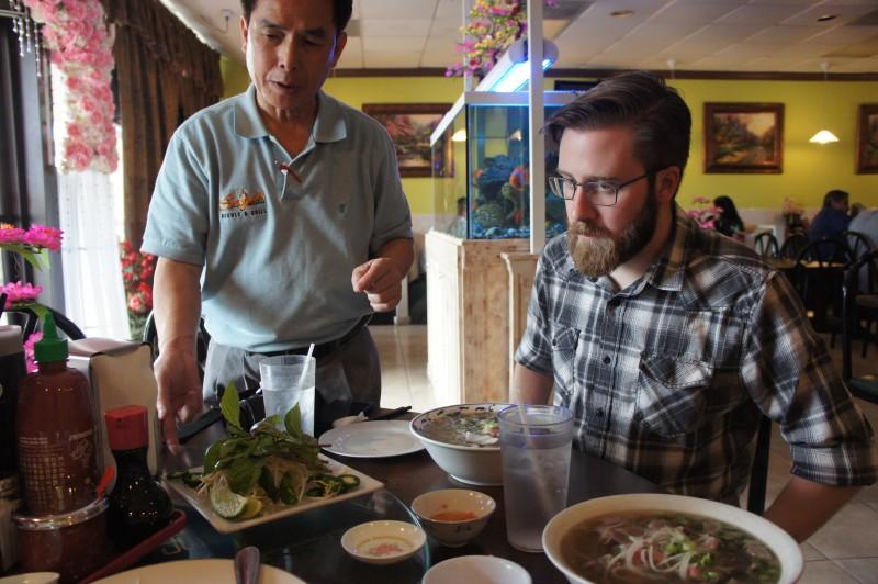 Mr Vincent Nguyen with Brendan Byrne of WMFE