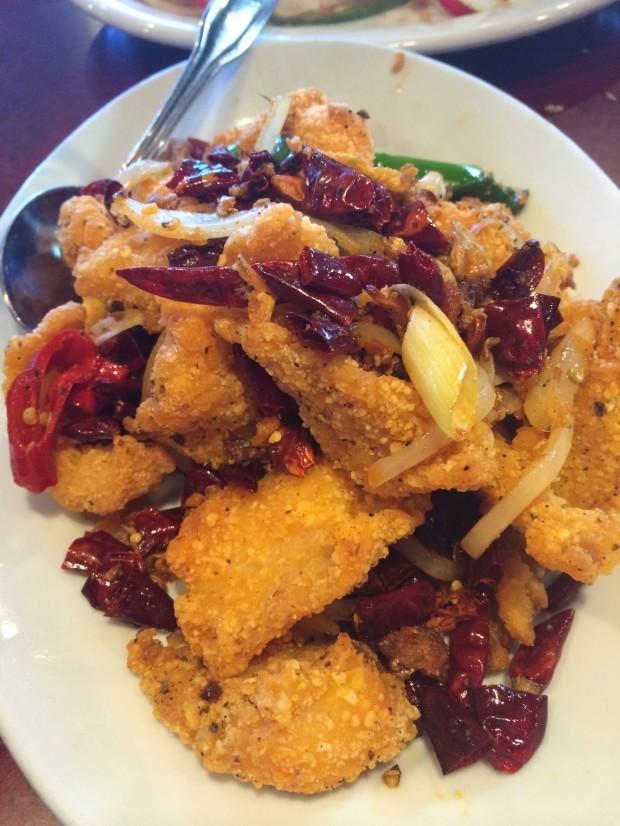 Feng Bao La Zi Fried fish Fillets - Like the Chongqing La Zi Ji Chicken, but better!
