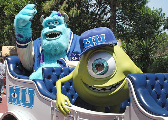 Sully and Mike at Walt Disney World