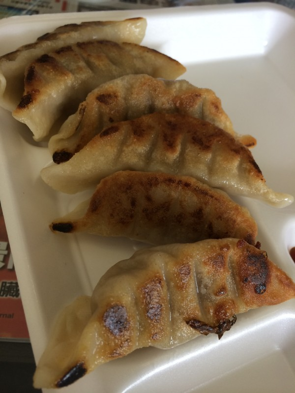Pan fried dumplings - not too shabby