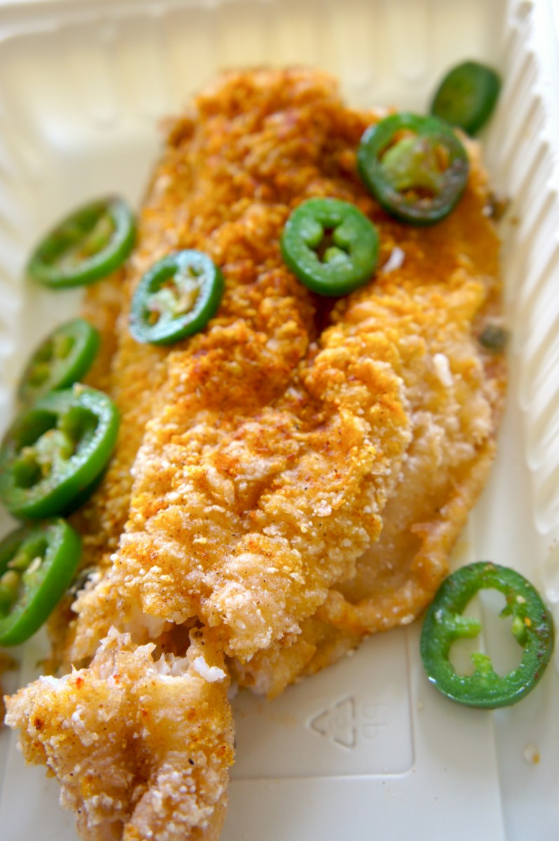 Spicy fried tilapia