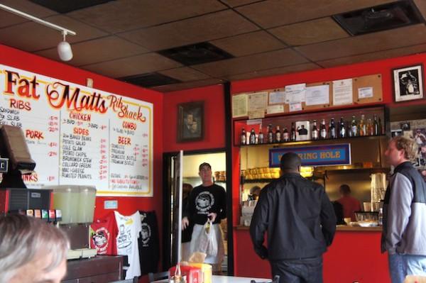 Order at the front at Fat Matt's Rib Shack Atlanta