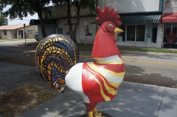 More roosters painted in Calle Ocho
