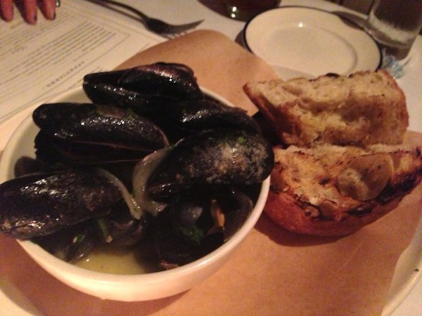 """ANGRY"" MUSSELS house bacon, serrano chile & onion, toast for soppin' ..."