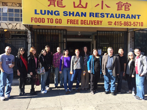 The Chowzter crew in front of Mission Chinese