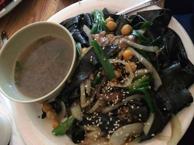 Fresh squid ink noodles