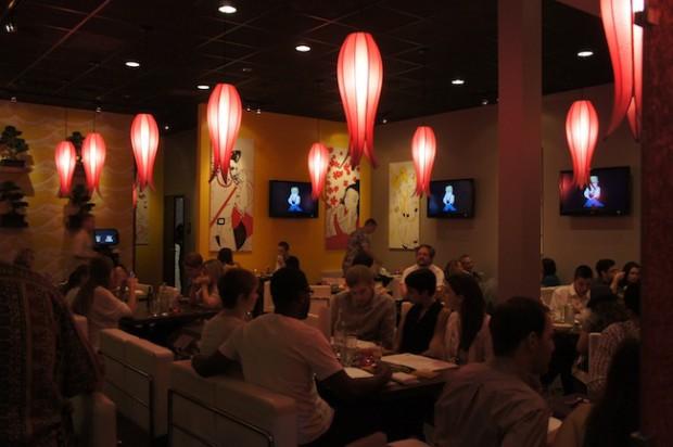 Interior of Sushi Pop