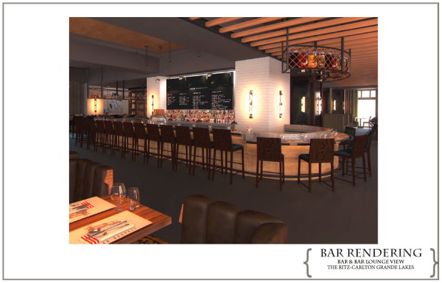 Bar Rendering of Highball and Harvest at Grande Lakes Orlando - Ritz Carlton