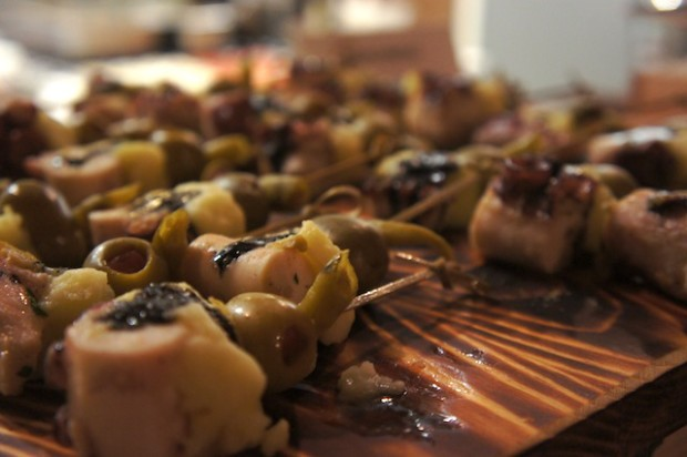 Pulpo octopus and manchego cheese