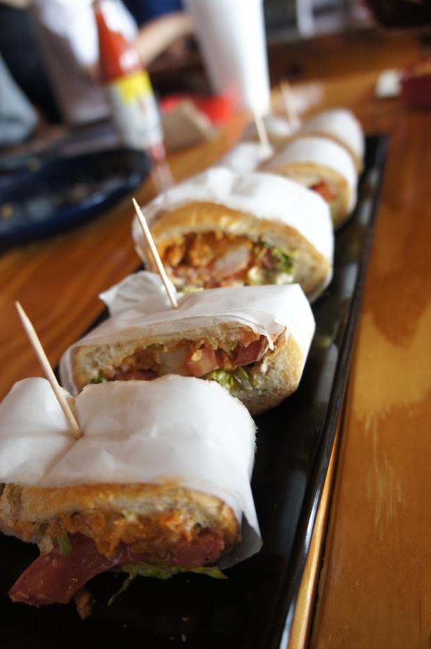 Shrimp Po Boy, influenced by New Orleans cajun cuisine