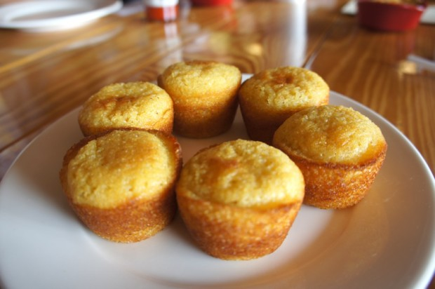 Cornbread - really good - fluffy, light, sweet, some flakes of corn detected