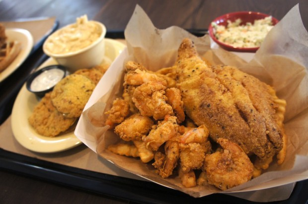 The Fried Seafood Basket at The Coop