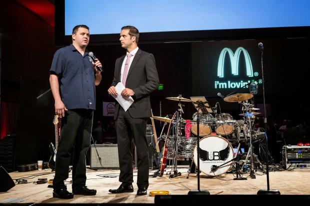 Chef James Petrakis of The Ravenous Pig and Cask & Larder speaks with emcee Matt Austin from WKMG