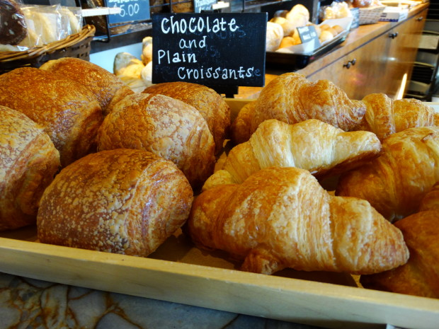 Chocolate and plain croissants from Olde Hearth Bread Company.