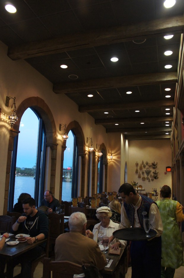 Indoor seating at Epcot's Spice Road Table