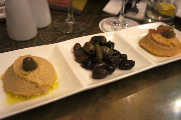 Hummus and Spiced nuts