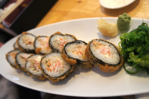Kiko roll - fried tempura roll with seafood