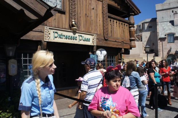 The entrance to the Character Meet and Greet with Anna and Elsa