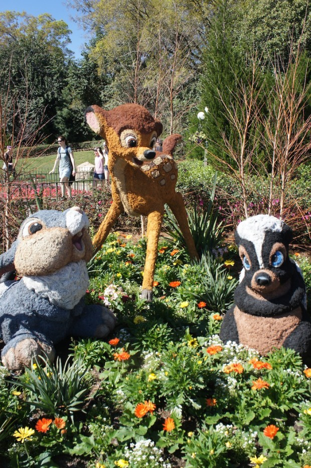 Bambi, Thumper, and Flower near the Canada pavilion
