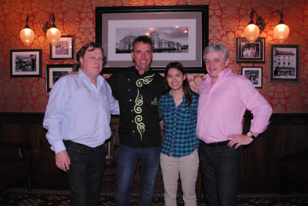John Cooke, Chef Kevin Dundon, Katherine Nguyen (Tasty Chomps Photographer), and Paul Nolan