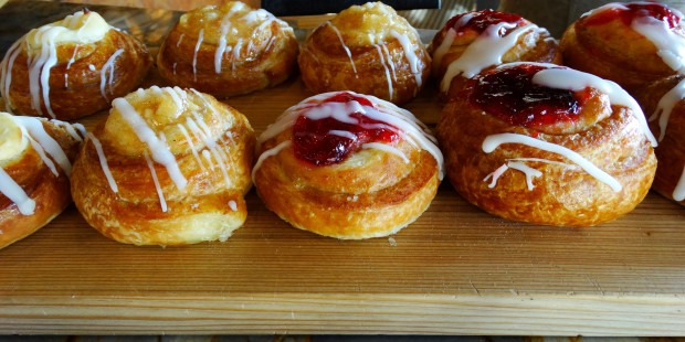Danishes ranging from cherry to apple were also from the Olde Hearth Bread Company.