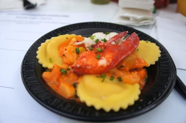 Lobster ravioli from Bar Harbor