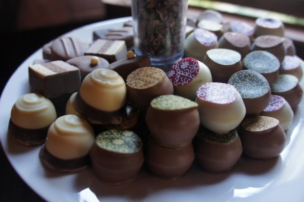 Chocolate truffles from Chocolate Provocateur located inside Infusion Tea