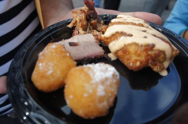 Sonny's BBQ - Sliced beef brisket and redneck eggrolls