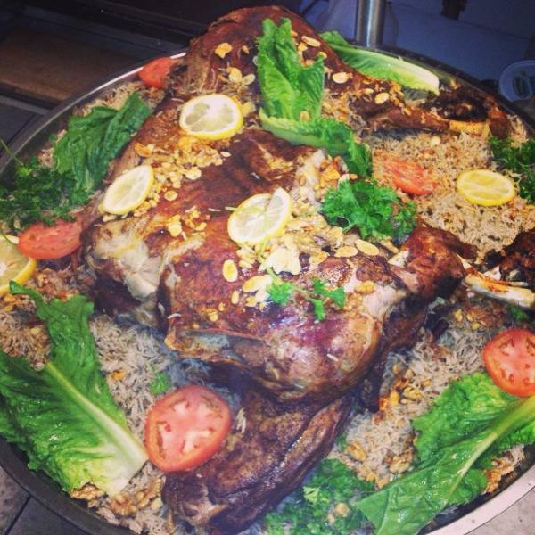 Stuffed Lamb at Cedar's Halal