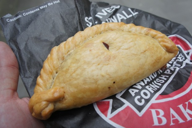 Cornish meatpie, looks a bit like an empanada - quite tasty
