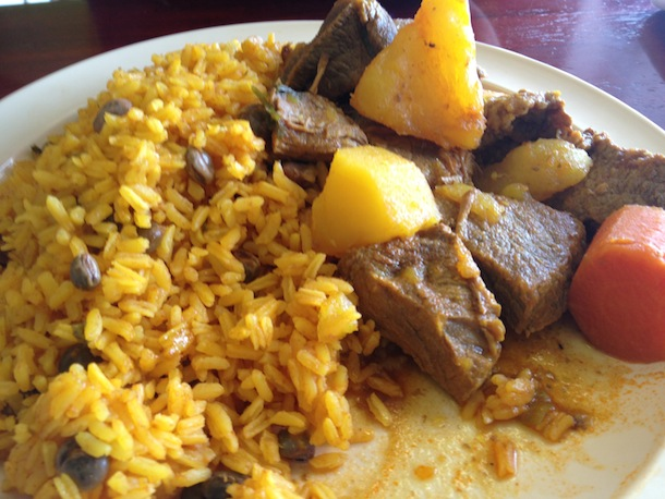 Rice plate with stewed beef