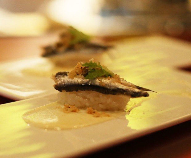 Sushi Pop's Boquerones - a play on caeser salad