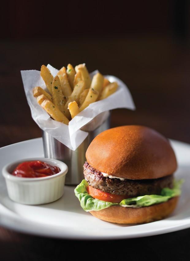 Kona Crusted Wagyu Burger with Shallot Mayo